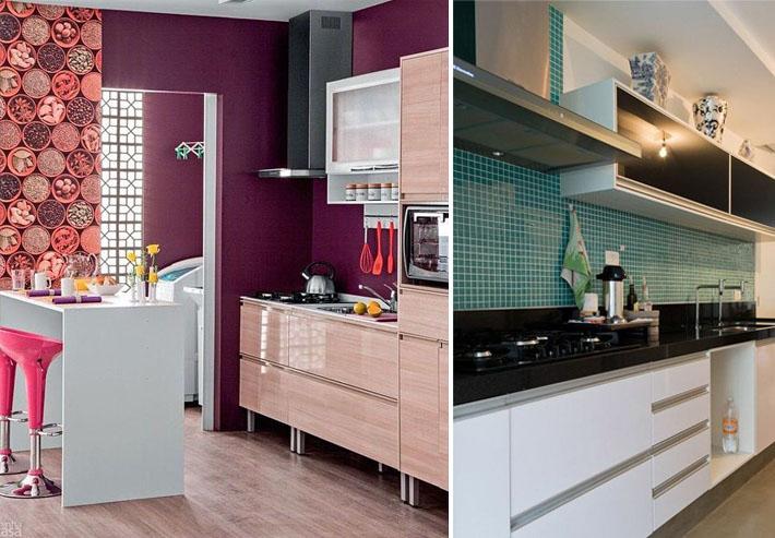 Cozinhas pequenas e coloridas 12