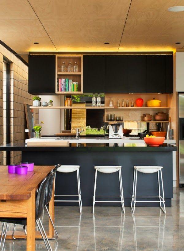 Cozinhas pequenas e coloridas 15