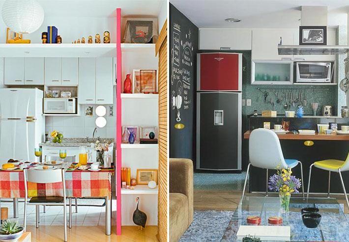 Cozinhas pequenas e coloridas 2