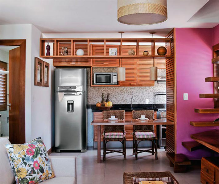Cozinhas pequenas e coloridas 9