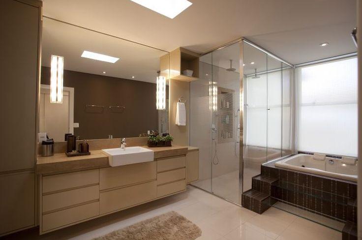 Banheiros Modernos De 2015 : Decora??o para banheiros grandes dicas e inspira?es