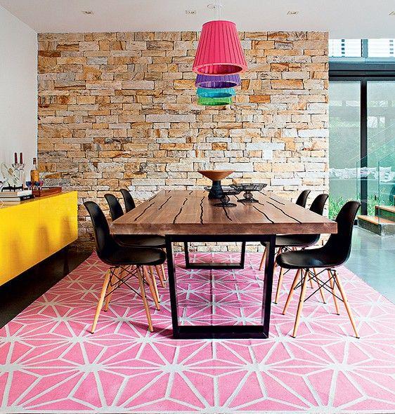 Tapetes com padrões geométricos 8
