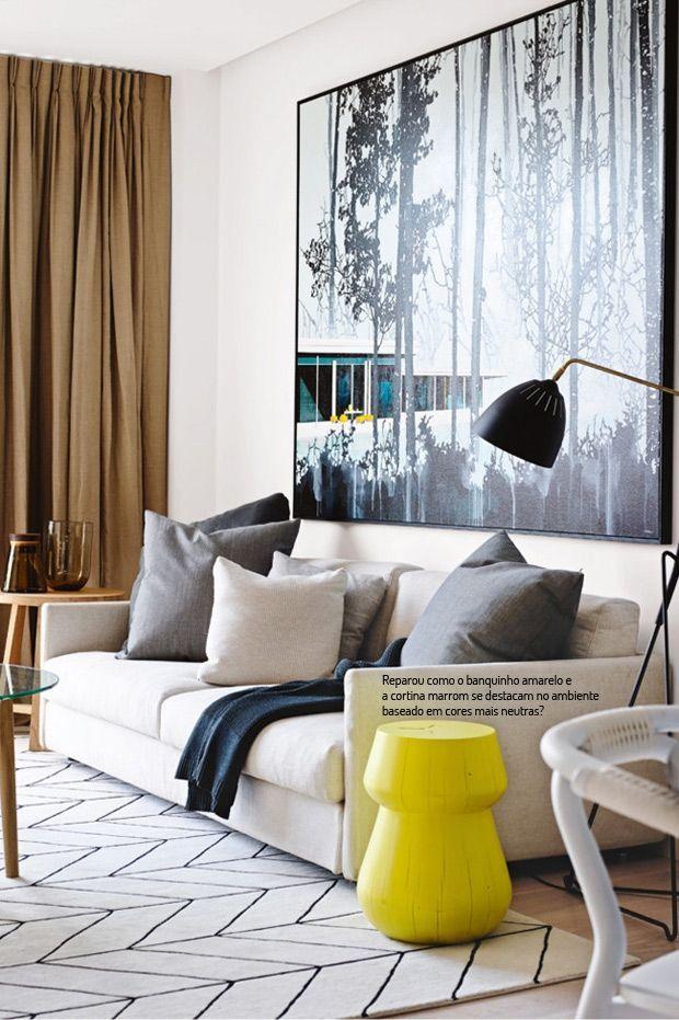Tapetes com padr es geom tricos dicas e inspira es Decorar salon con cuadros grandes