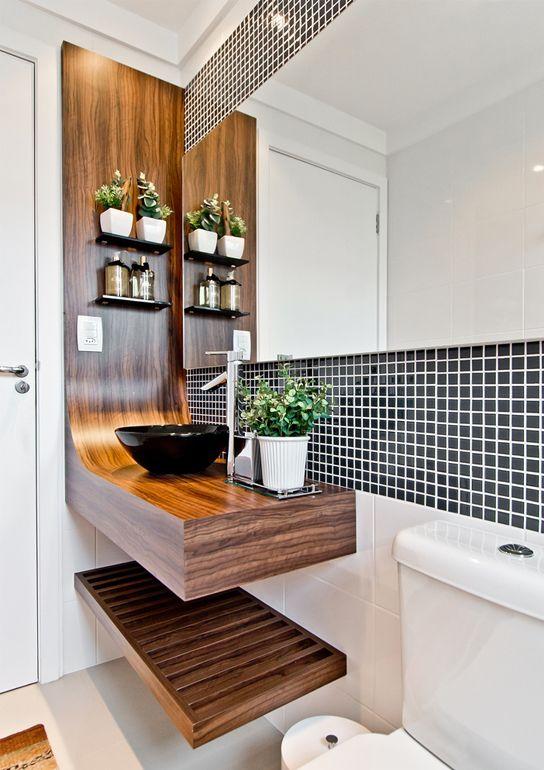 Ideias estilosas para o banheiro 17
