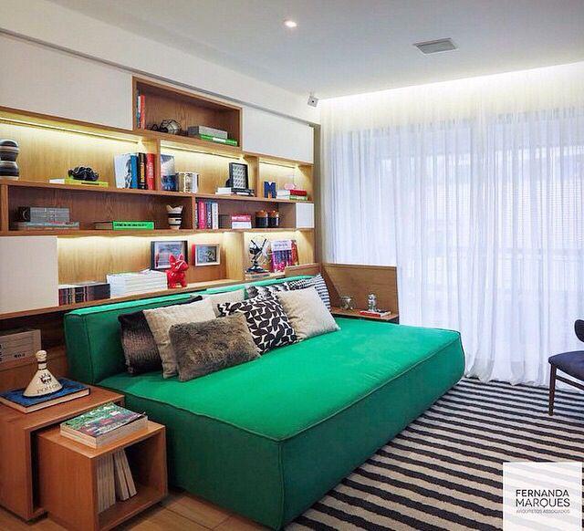 Sofá cama na decoração ~ Transformar Home Office Em Quarto De Bebe