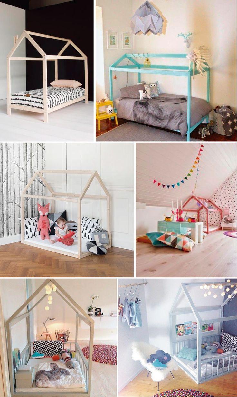Cama infantil na decoração do quarto 10