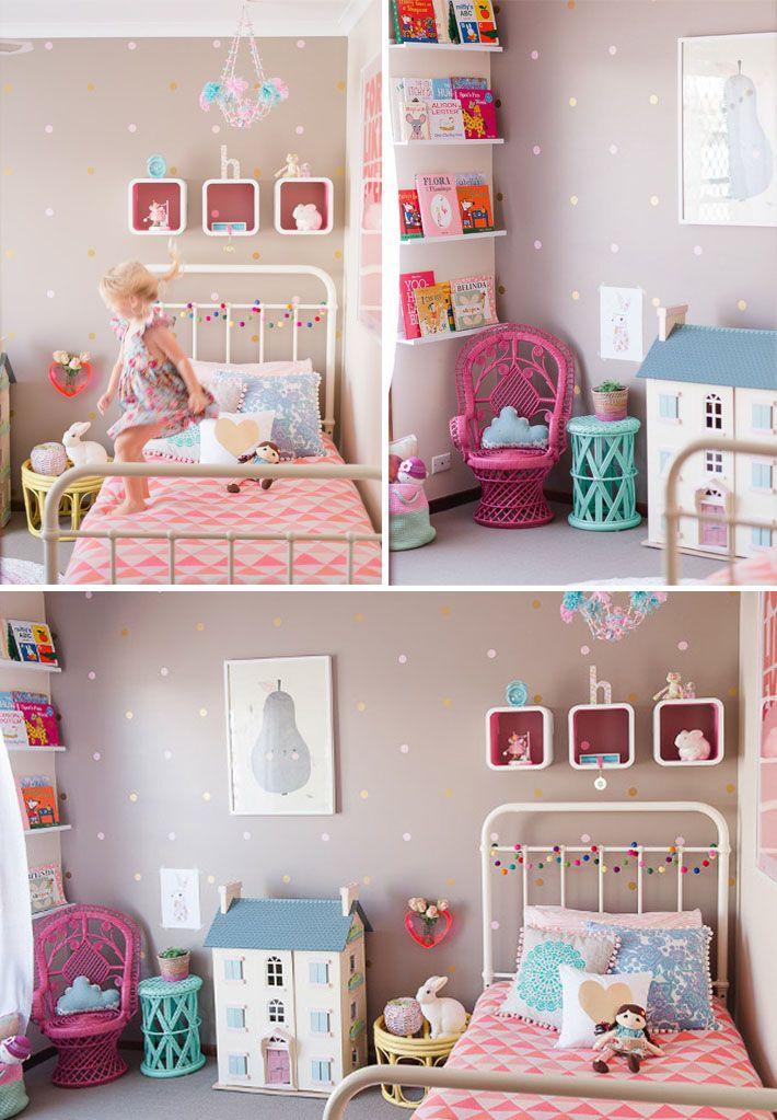 Cama infantil na decoração do quarto 2