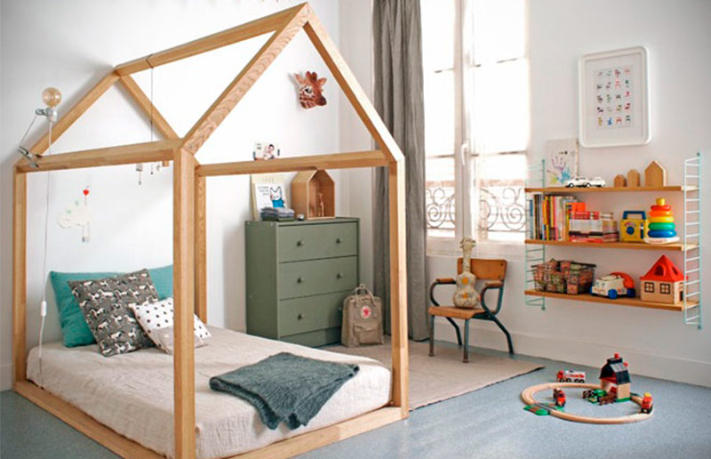 Cama infantil na decoração do quarto 3