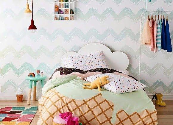 Cama infantil na decoração do quarto