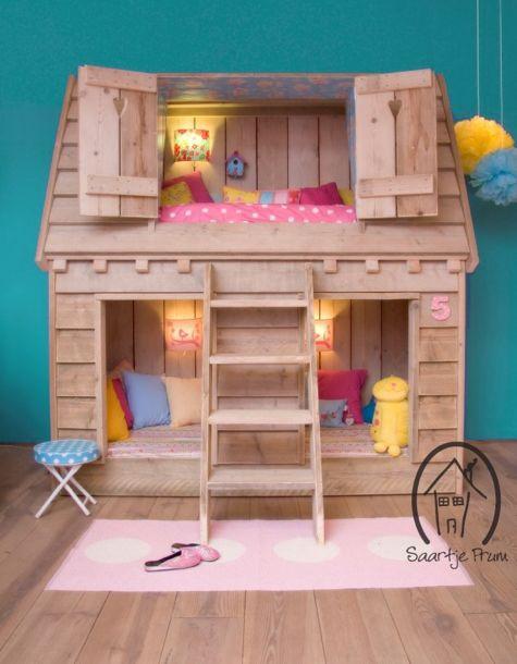 Cama infantil na decoração do quarto 8