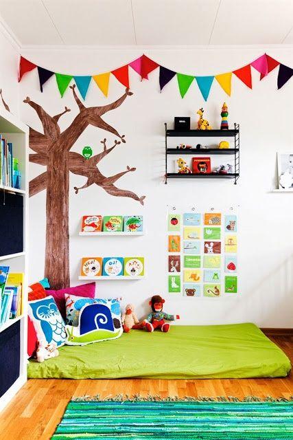 Cama infantil na decoração do quarto 9