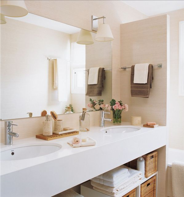 Como organizar bancada do banheiro dicas e inspira es - Iluminacion banos modernos ...