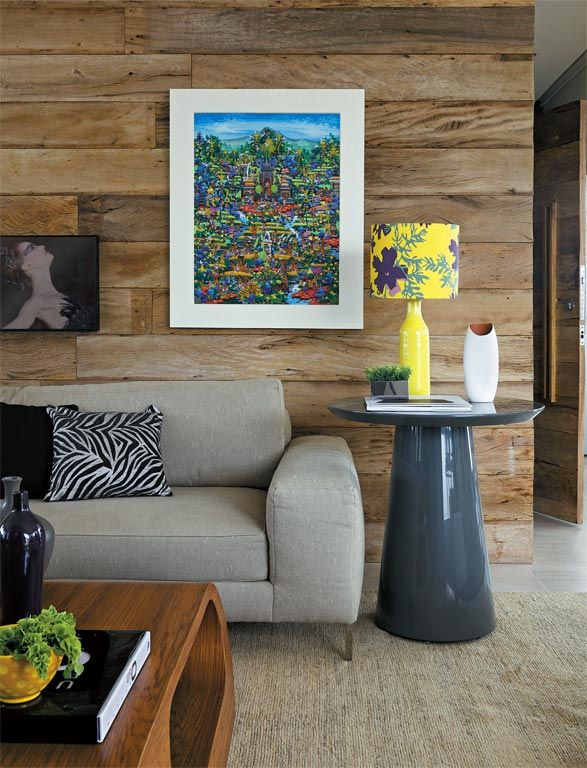 Decoração usando cores e madeira 2