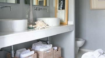 10 ideias para organizar o banheiro
