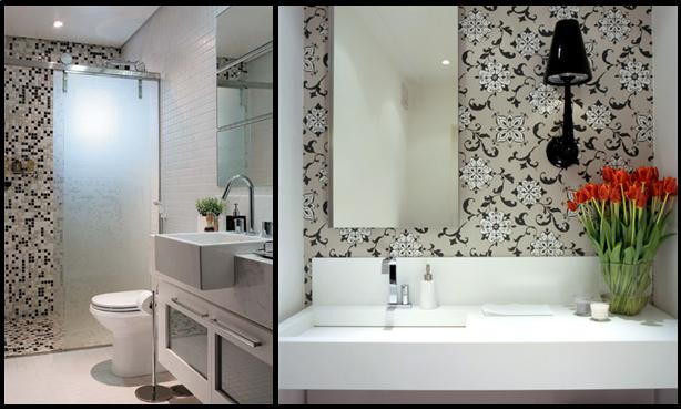 Banheiro preto e branco 10