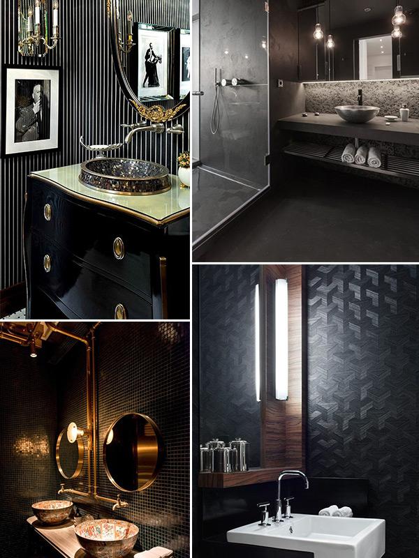 Banheiro preto e branco 7