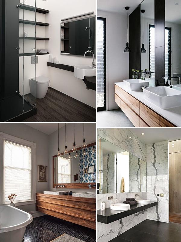 Banheiro preto e branco  Inspirações e dicas para decorar -> Banheiros Modernos Em Preto E Branco