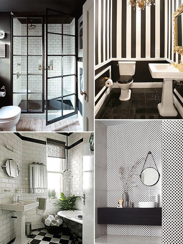 Banheiro preto e branco 9