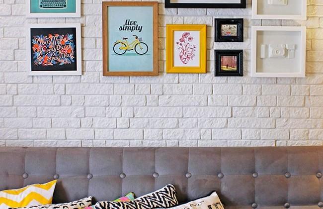 Sofá cinza na decoração
