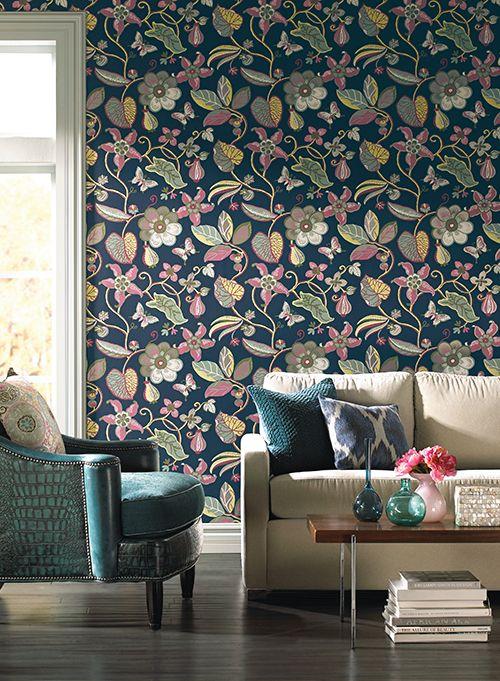 Papel de parede floral 8