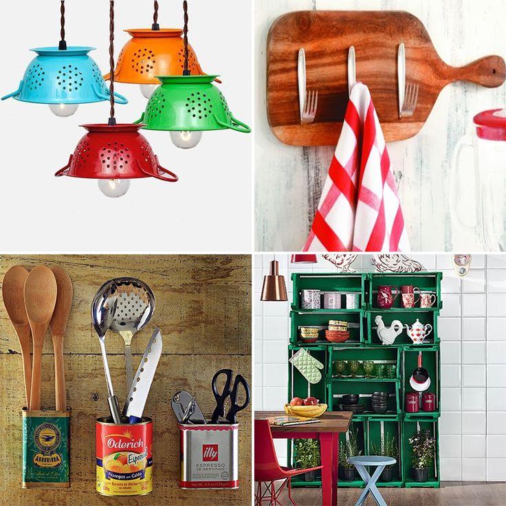 Ideias De Cozinha ~ Ideias econ u00f4micas para decorar a cozinha
