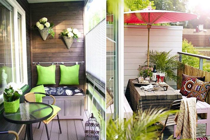 Como decorar varandas e sacadas pequenas -> Decoração De Varanda Com Vasos De Plantas