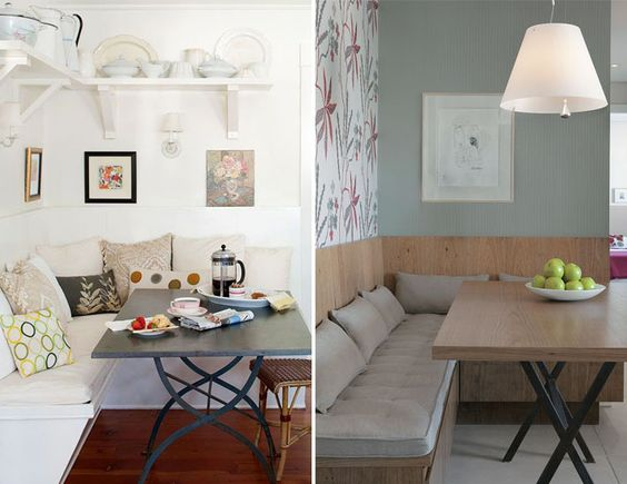 Sala De Jantar Com Banco Na Parede ~ Sofá na sala de jantar