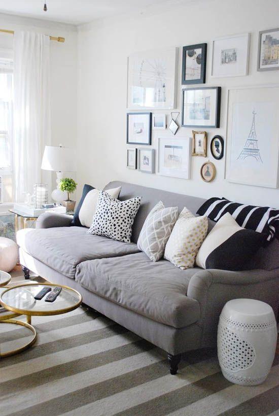 sala com sofá cinza 4
