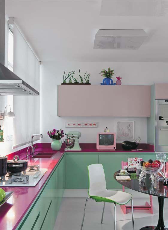Cozinhas coloridas 12