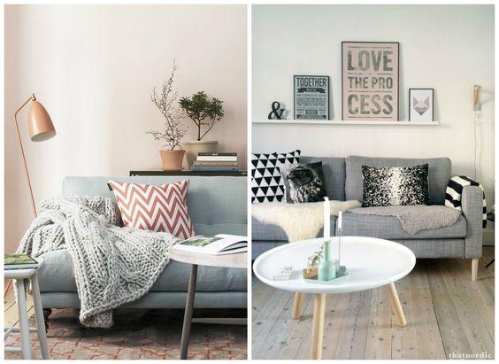 sala com sofá cinza 10