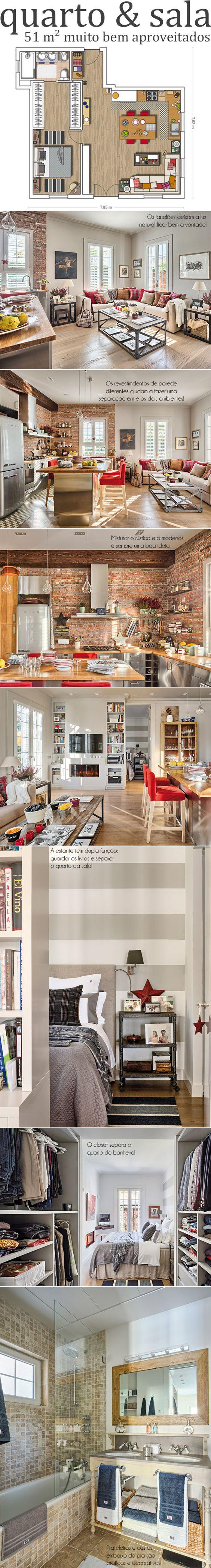 Como mobiliar um apartamento pequeno e simples 11