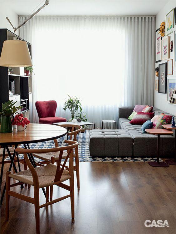 Como mobiliar apartamento pequeno e simples 2