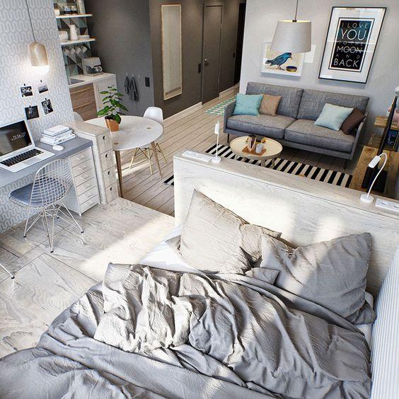 Como mobiliar apartamento pequeno e simples 4