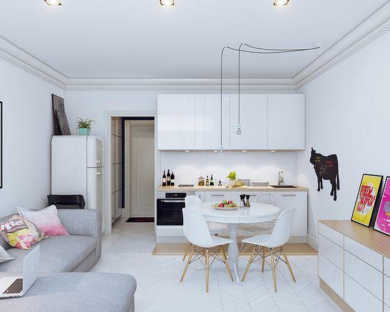 Como mobiliar um apartamento pequeno e simples 6