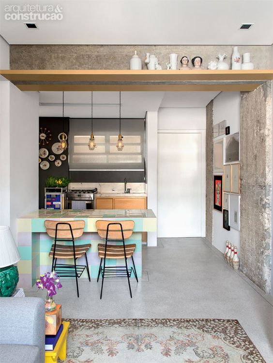 Como mobiliar um apartamento pequeno e simples 8