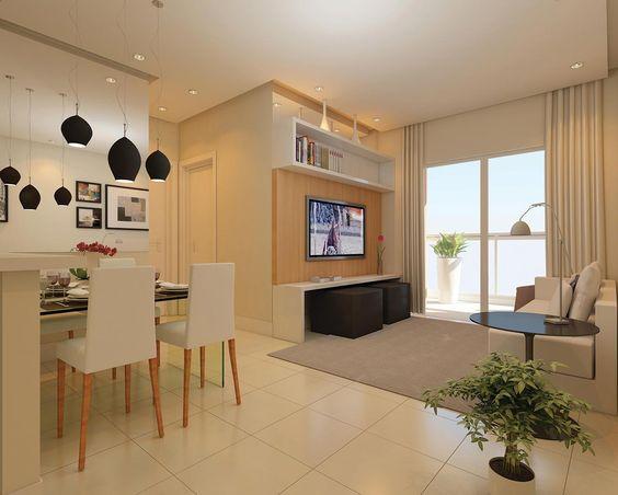 Como mobiliar um apartamento pequeno e simples 9