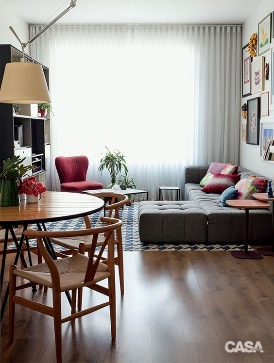 Como dispor móveis em uma sala pequena 14