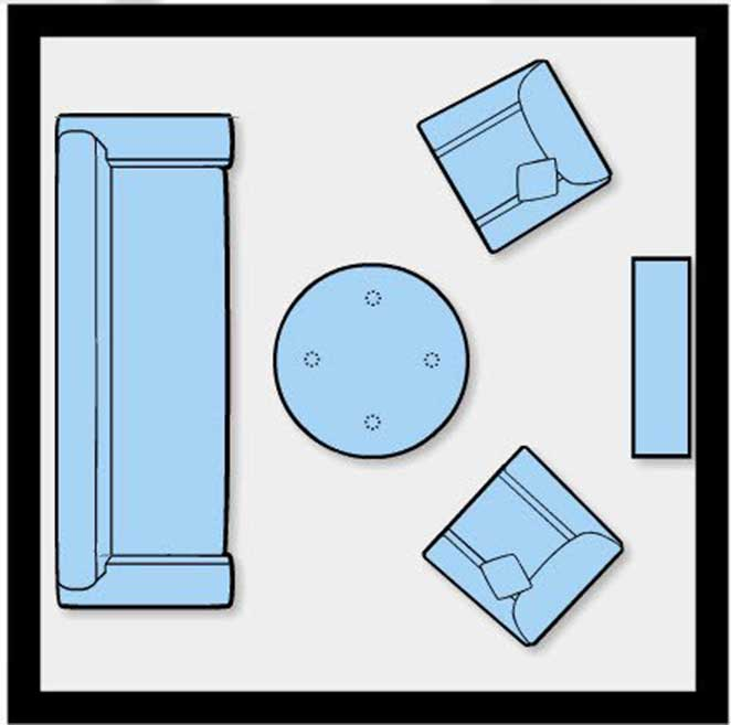 Como dispor móveis em uma sala pequena 3