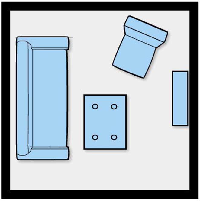 Como dispor móveis em uma sala pequena 6