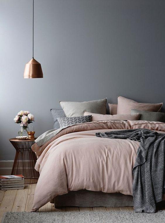 Decoração de quartos cinza
