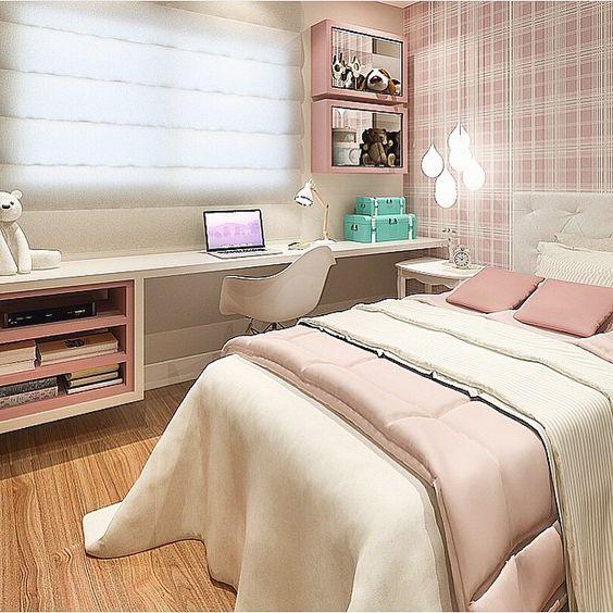 Decoração para quarto jovem feminino