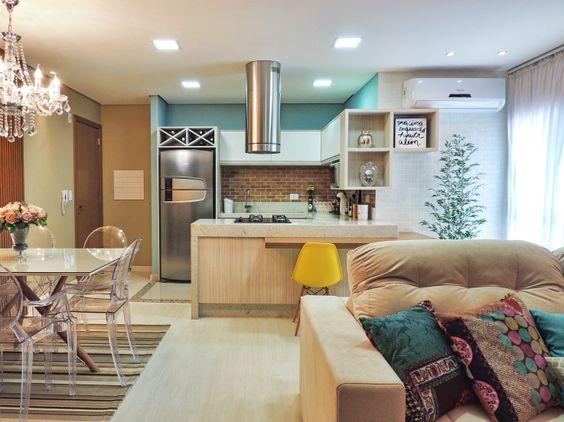 Decora o de sala conjugada dicas e inspira es for Sala de estar rustica y moderna