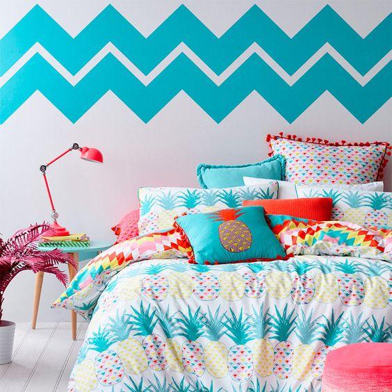 Decoração de quarto colorido 13