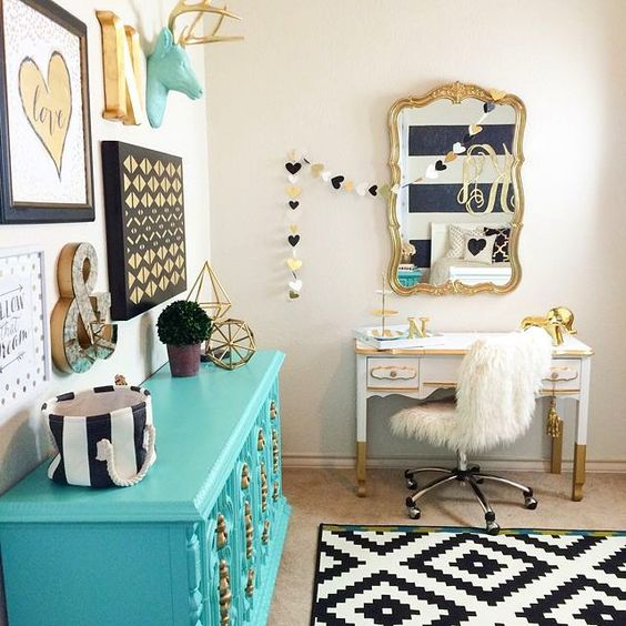 Decoração de quarto colorido 7