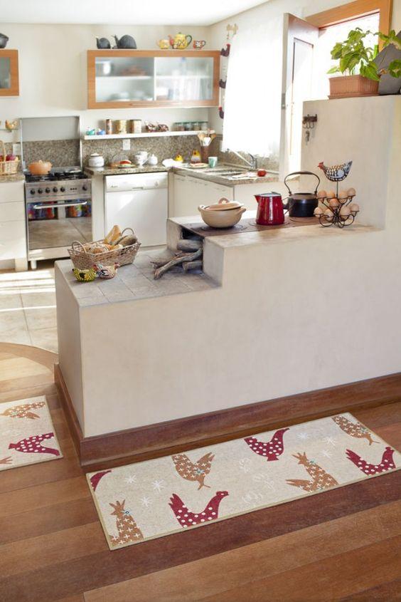 Dicas e inspirações tapetes para cozinha 8