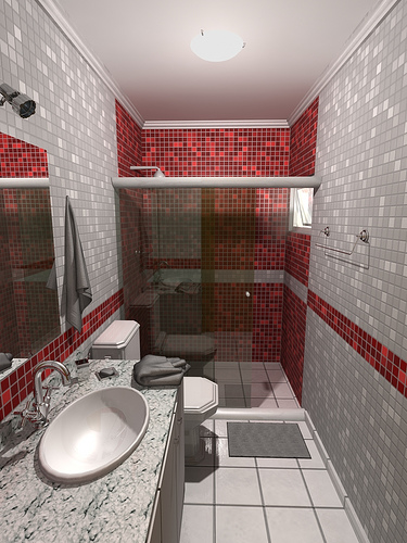 Decoração de Banheiros Pequenos 6