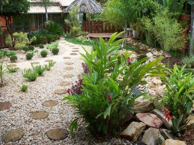 Decoração de Jardim com Pedras - Fotos