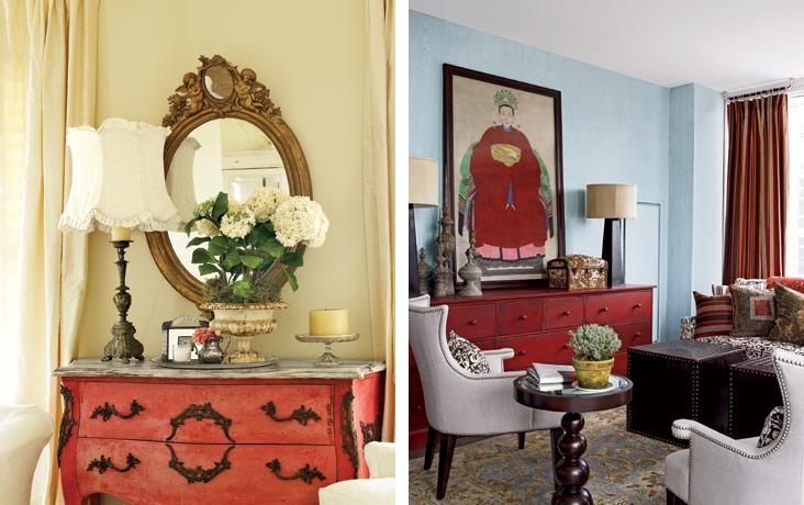 Como combinar móveis coloridos na decoração