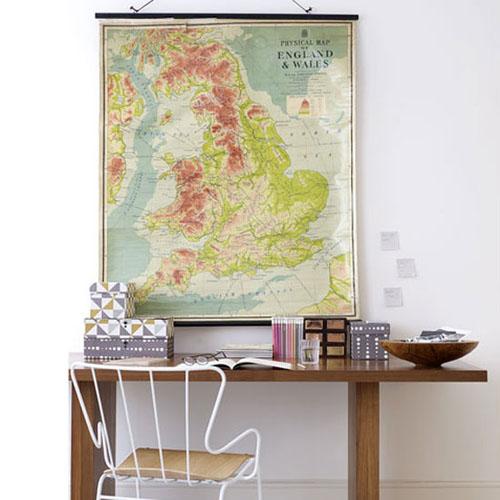 Mapa na parede para decorar 3
