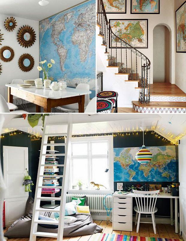 Mapa na parede para decorar 4